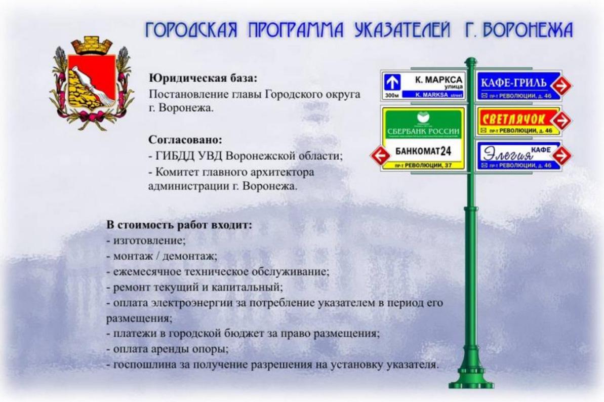 указатели в Воронеже