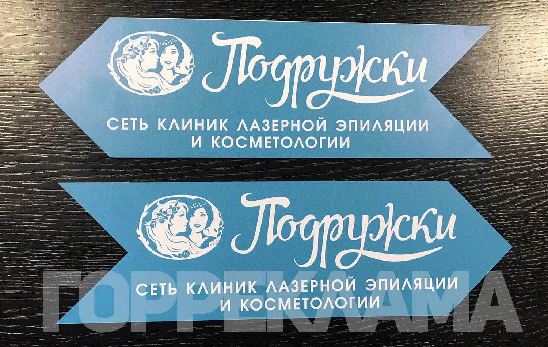 печать-на-пластике-таблички-указателя-с-фрезеровкой-в-Воронеже