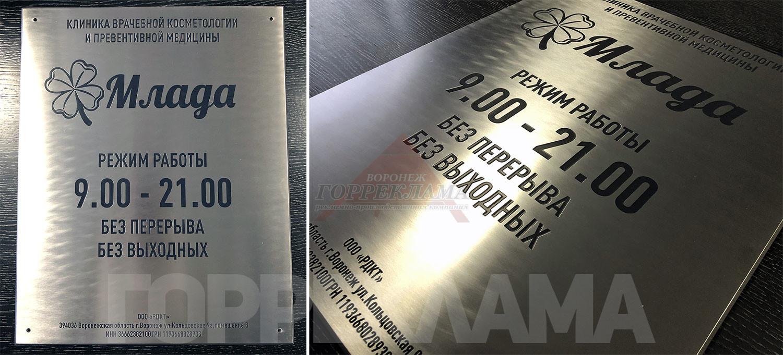 металлическая-табличка-млада-шлифованая-нержавейка-с-эмалью-Воронеж