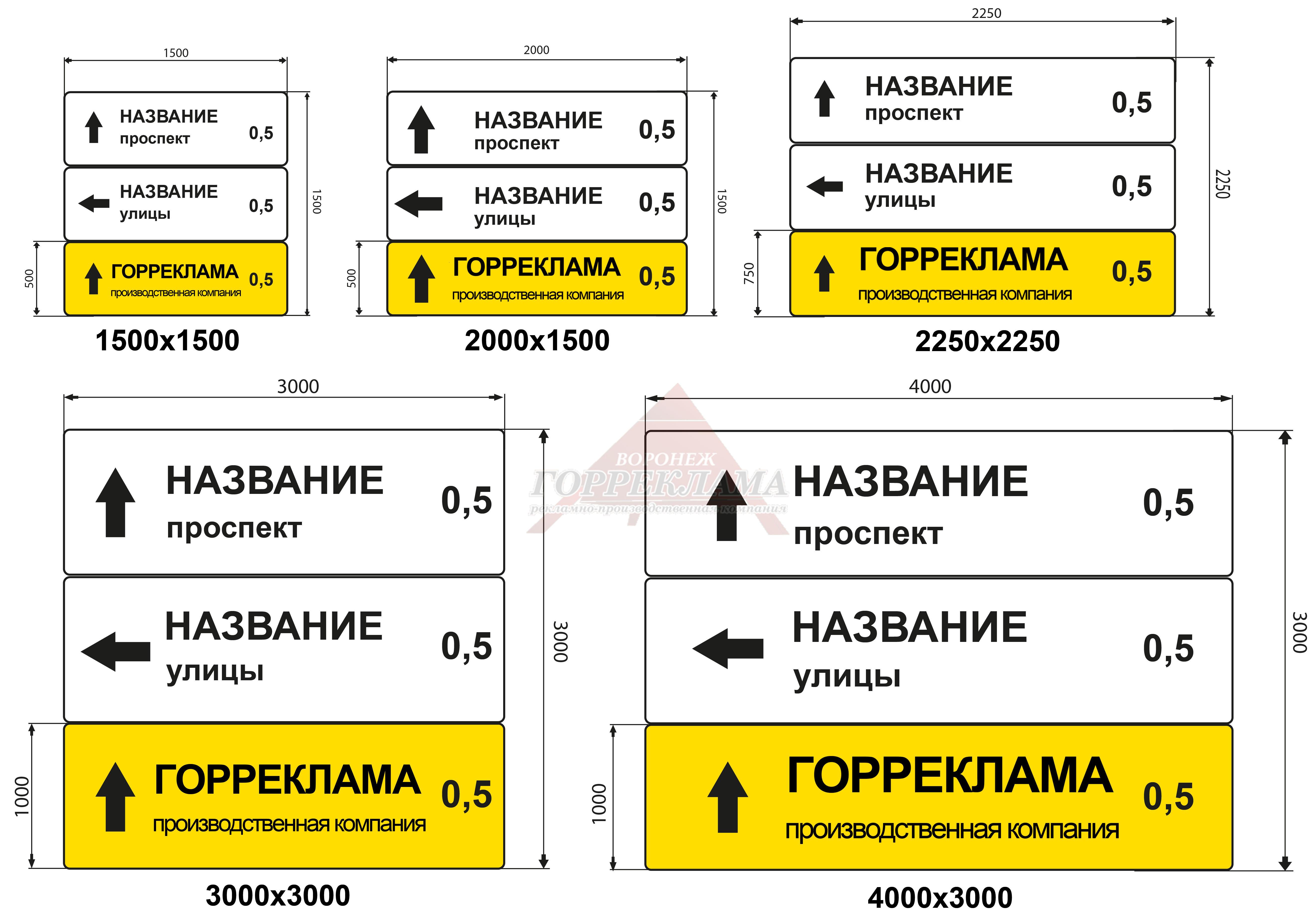 реклама-на-дорожных-знаках-указателях-в-Воронеже